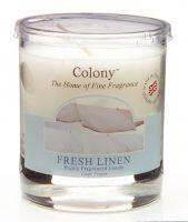Duftkerze im Glas, klein - Fresh Linen (Feines Leinen) 35 h