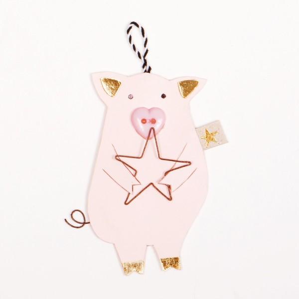 Glücksschweinchen Stern