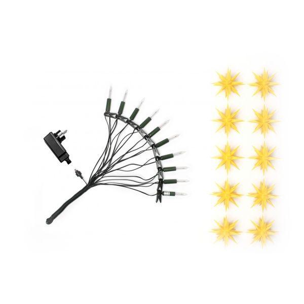 Herrnhuter Sterne - Weihnachtskette, Gelb für Innen- u. Außengebrauch