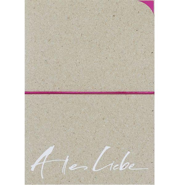 """Kalligrafie Karte """"Alles Liebe"""""""