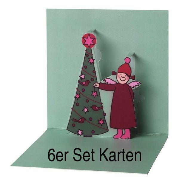 Weihnachtskarten Set Günstig.Himmlische Schwestern Pop Up Karte Motiv 6 6er Set