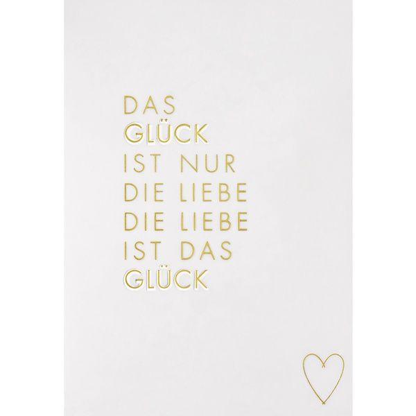 """Transparente Hochzeitskarte """"Glück"""""""