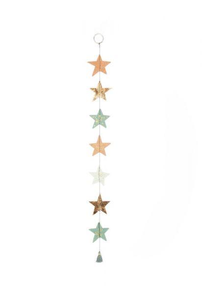 Wintersternkette - grün/gold