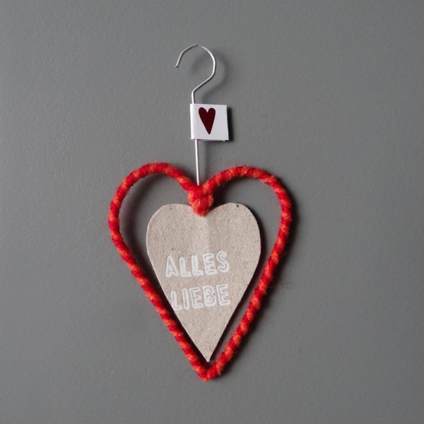 """Mini Wollherz """"Alles Liebe"""""""