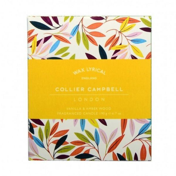 Collier Campbell Vanilla & Amber Wood Glass Candle