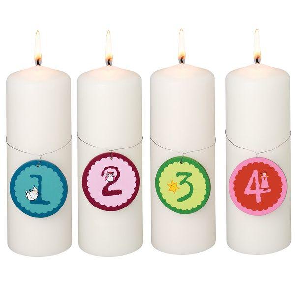 Kerzenzahlen - 1 - 2 - 3 - 4 Advent