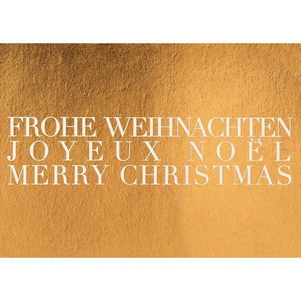 """Geschenke des Himmels - Postkarte """"Frohe Weihnachten, gold"""""""