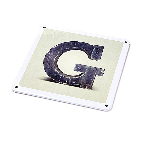 """Metallschild - """"G"""""""