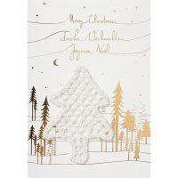 "Weihnachts Strickkarte ""Merry Christmas"""