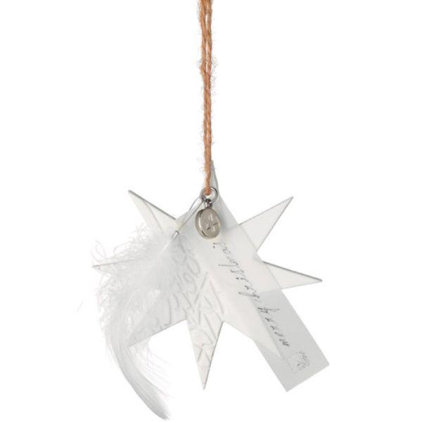 """Weihnachtszauber """"Porzellan Ornament Stern mit 8 Zacken"""""""
