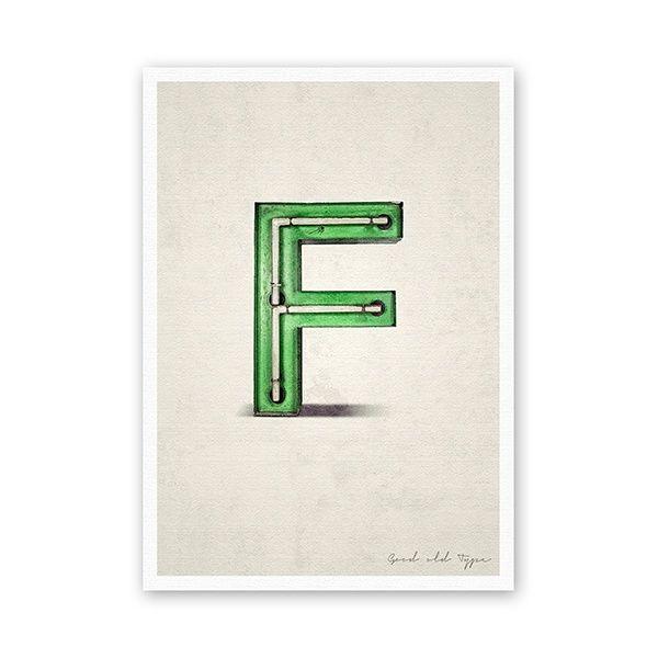 """Postkarte - """"F"""""""
