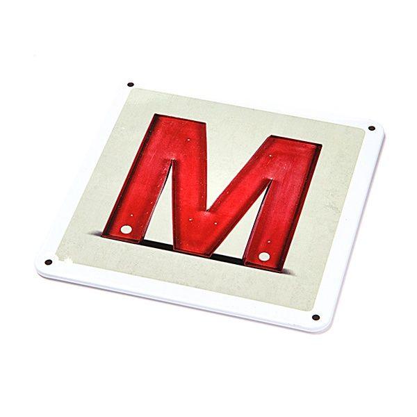 """Metallschild - """"M"""""""