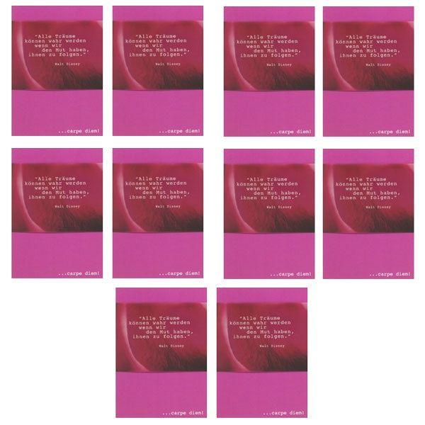 "Carpe Diem Karte - ""Alle Träume..."" 10er-Set"