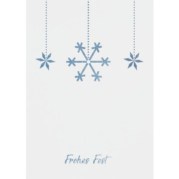 """Weihnachts Aquarell Postkarte """"Frohes Fest"""""""