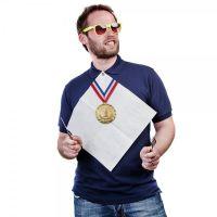 """Knopfloch-Serviette """"Champion"""""""