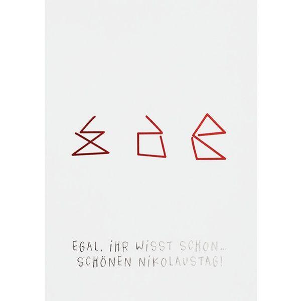 """Weihnachts Illustration Postkarte """"Egal, ihr wisst schon …"""""""