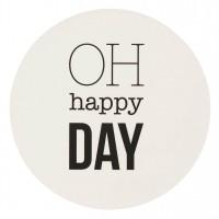 Happy Day Untersetzer Set, Schwarz/Weiß