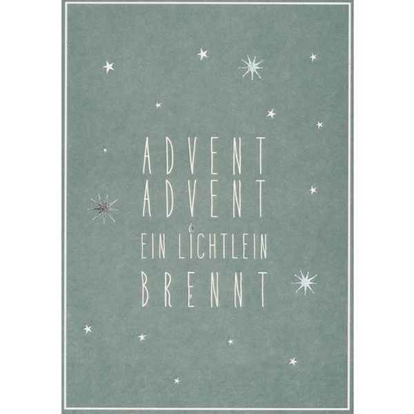 "Winter Postkarte ""Advent"""