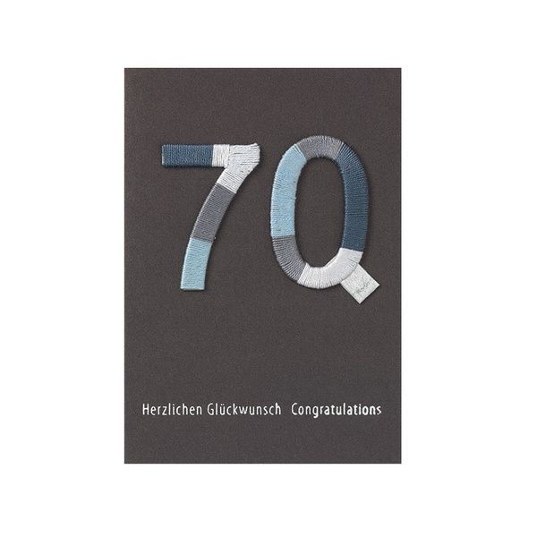 "Jubiläums Variationskarte ""70"""