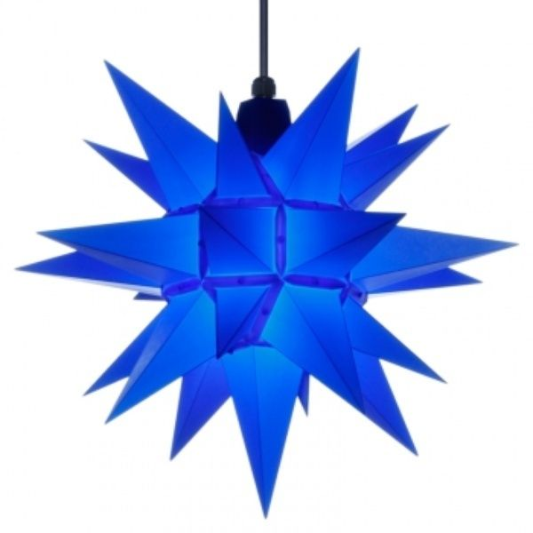 Herrnhuter Stern für Außen, A4 Blau 40 cm