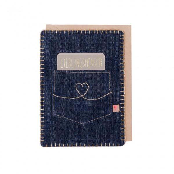"Jeans Karte ""Lieblingsmensch"""