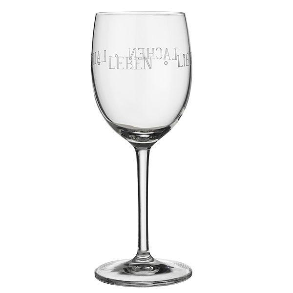 """Vino Rotweinglas """"Leben Lieben Lachen"""""""