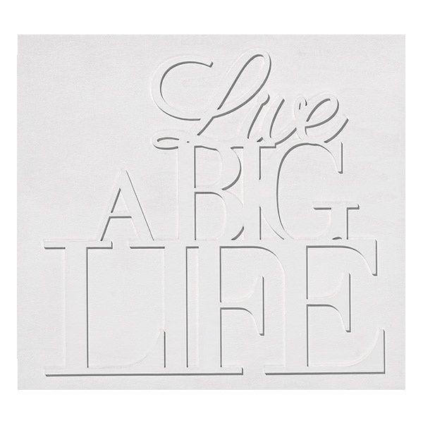 "Zuhause Holz Wandpoesie ""Live a big Life"""