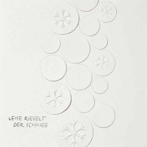 """Weihnachts Papierkunstkarte """"Leise rieselt der Schnee"""""""