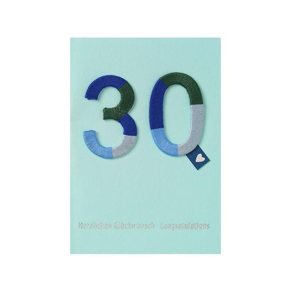 """Jubiläums Variationskarte """"30"""""""