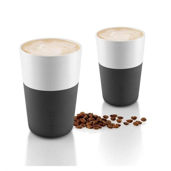 "2 Café Latte-Becher ""Black"""