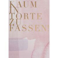"""Aquarell Postkarte """"Kaum in Torte zu fassen!"""""""