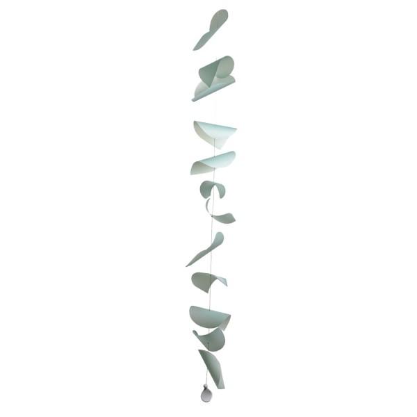 Blattwerk Papierkette, hellblau