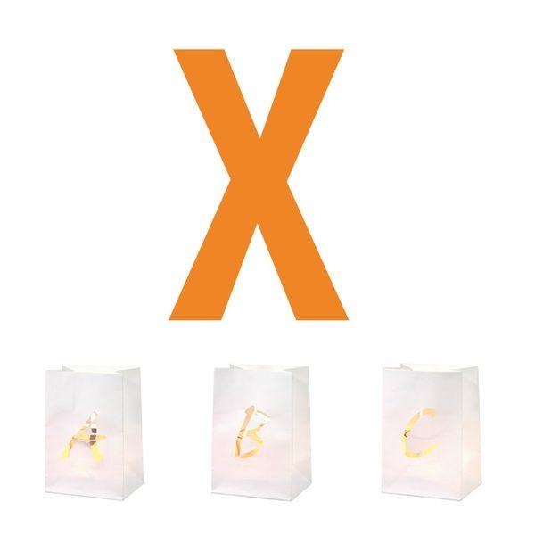 Buchstaben Lichttüte X