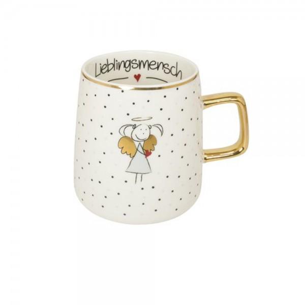 """Tasse mit Goldhenkel """"Lieblingsmensch"""""""