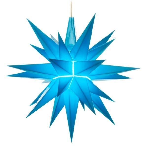 Weihnachtsstern für Innen, Blau 13 cm