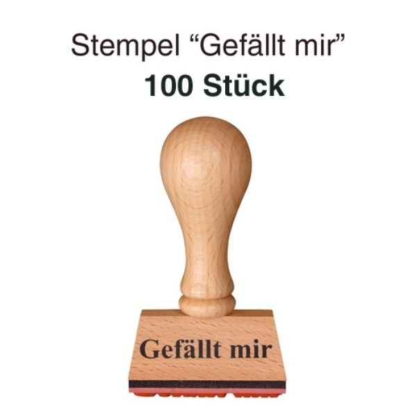 "Stempel ""Gefällt mir"" 100er Set"