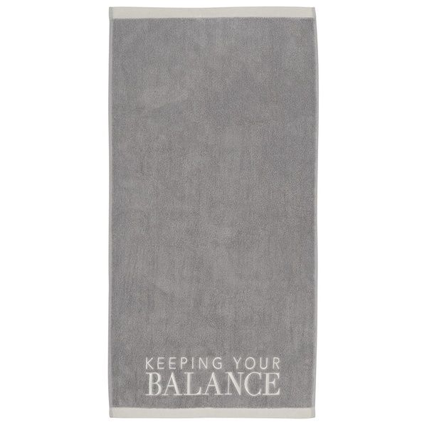 "Handtuch ""Keep your balance"", Grau"