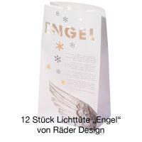 Räder Winterzeit Lichttüte Engel 12 Stück