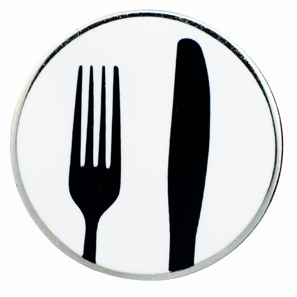 Gourmetpin - Motiv Messer & Gabel