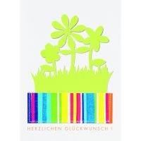 """Fancy Summer Karte - """"Herzlichen Glückwunsch"""" 12er Set"""