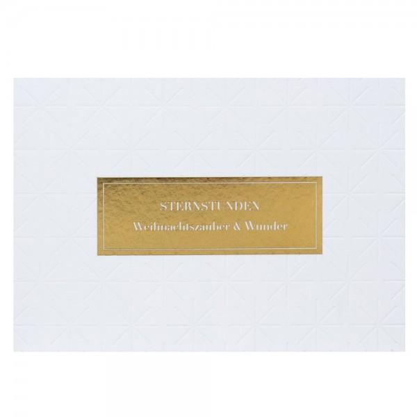 """Weiße Weihnacht Postkarte """" Sternstunden"""""""