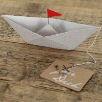 """Papierbootkarte """"Für Dich"""""""