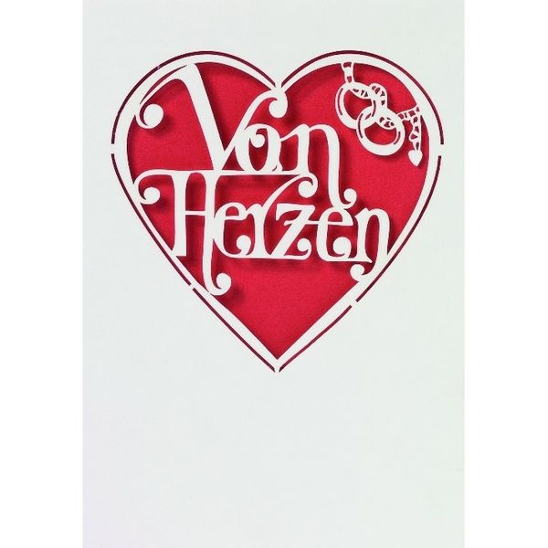 """Hochzeitsschriftkarte """"Von Herzen"""""""
