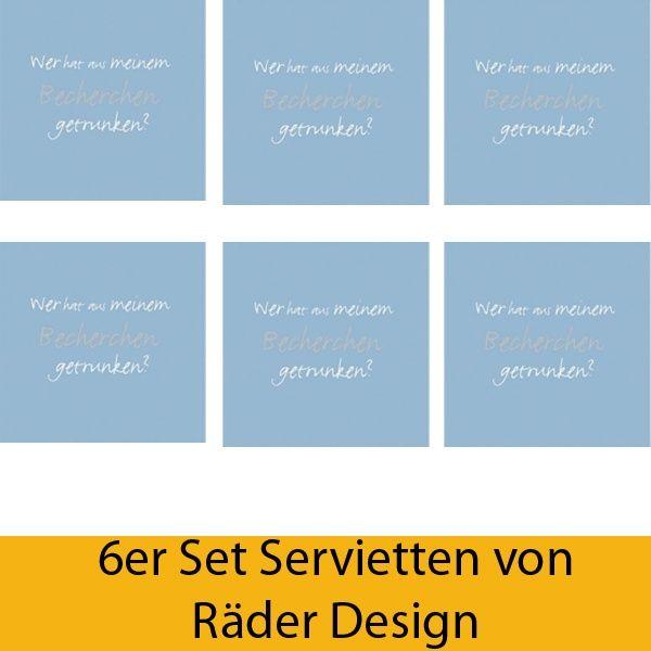 """Serviettenkollektion """"Becherchen"""" 6er Set"""