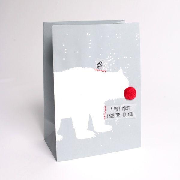 """Winter PomPom Tüte """"Eisbär"""""""