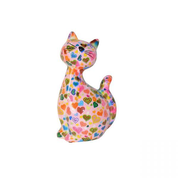 """Katze """"Caramel"""" M - Rosa mit Herzen"""