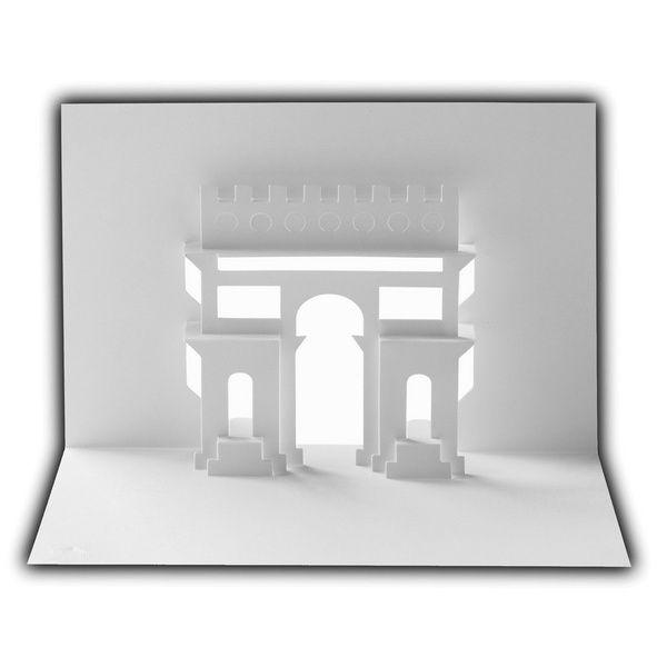 Architektur Karten - Neue Architekturkarte Arc de Triumph