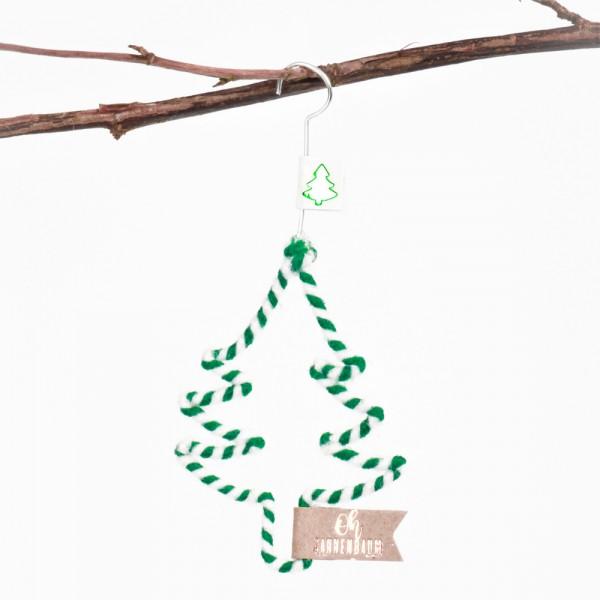 "Mini Winter Wollornament ""Baum"""