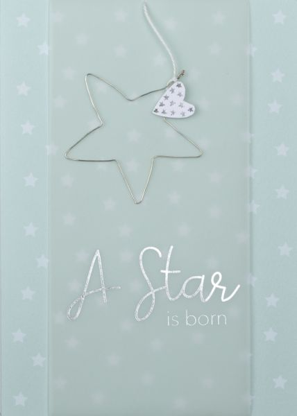 "Drahtkarte ""A Star is born"""