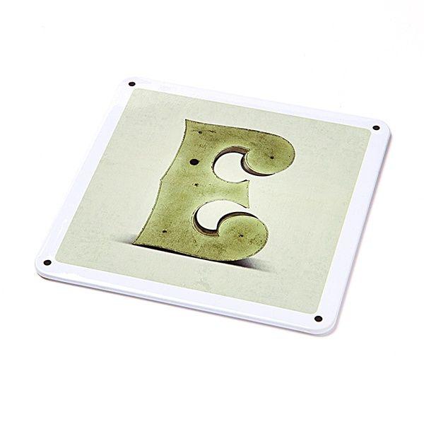 "Metallschild - ""E"""